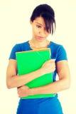 Donna dello studente con la depressione Fotografia Stock