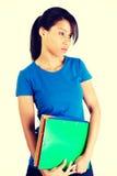 Donna dello studente con la depressione Immagine Stock
