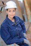 Donna dello studente dell'architetto del ritratto Fotografia Stock