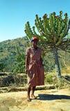 Donna dello Swazi, montagne di Hhenga, Swaziland Fotografie Stock Libere da Diritti