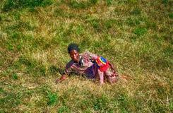 Donna dello Swazi, montagne di Hhenga, Swaziland Immagine Stock Libera da Diritti