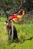 donna dello zingaro di modo fotografia stock