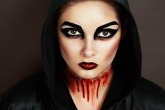 Donna demonica Immagini Stock Libere da Diritti