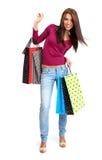 Donna di acquisto. Fotografia Stock