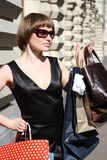Donna di acquisto Fotografia Stock Libera da Diritti