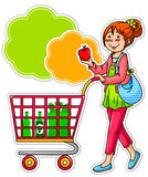 Donna di acquisto Immagine Stock