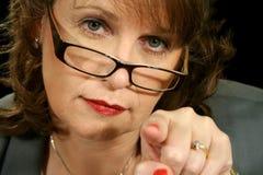 Donna di affari 2 di vetro Fotografie Stock Libere da Diritti