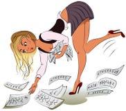 Donna di affari illustrazione di stock