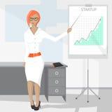 Donna di affari - 2 Illustrazione di Stock