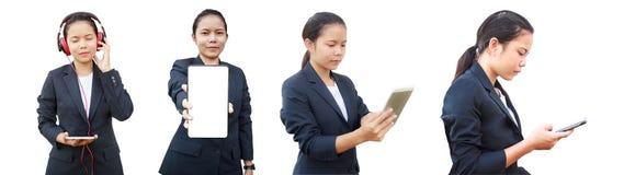 4 in 1 donna di affari Immagine Stock Libera da Diritti