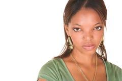 Donna di affari africana sexy fotografia stock libera da diritti