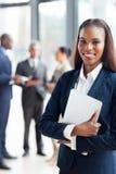 Donna di affari afroamericana Fotografie Stock