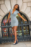 Donna di affari afroamericana Fashion a New York Fotografia Stock Libera da Diritti