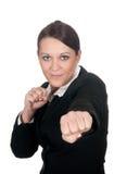 Donna di affari aggressiva Immagini Stock Libere da Diritti