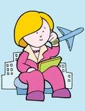 Donna di affari all'aeroporto Immagini Stock Libere da Diritti