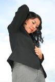 Donna di affari all'aperto. Fotografia Stock