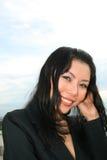 Donna di affari all'aperto. Fotografie Stock