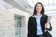 Donna di affari all'azienda Fotografie Stock Libere da Diritti