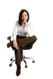 Donna di affari all'ufficio Immagini Stock
