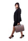 Donna di affari ambulante Fotografia Stock