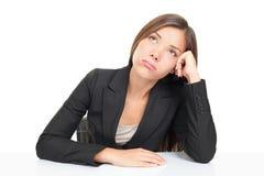 Donna di affari annoiata Immagine Stock Libera da Diritti