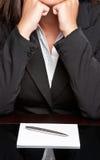 Donna di affari annoiata Fotografia Stock Libera da Diritti