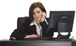Donna di affari annoiata Fotografia Stock