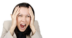Donna di affari arrabbiata Immagine Stock Libera da Diritti
