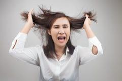 Donna di affari arrabbiata Fotografia Stock