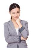 Donna di affari asiatica Fotografie Stock