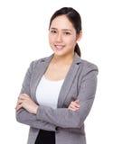 Donna di affari asiatica fotografia stock