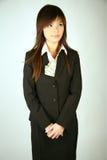 Donna di affari asiatica con soldi Fotografia Stock Libera da Diritti
