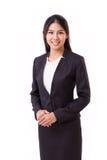 Donna di affari asiatica sicura Immagini Stock Libere da Diritti