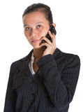 Donna di affari asiatica And Smartphone III fotografia stock libera da diritti