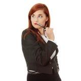 Donna di affari attraente Fotografia Stock