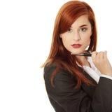 Donna di affari attraente Fotografia Stock Libera da Diritti