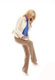 Donna di affari attraente con un taccuino Fotografia Stock Libera da Diritti