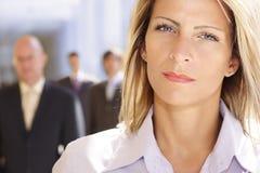 Donna di affari attraente ed ambiziosa Fotografia Stock