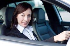 Donna di affari in automobile Fotografia Stock Libera da Diritti