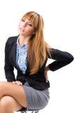 Donna di affari With Back Pain Fotografia Stock Libera da Diritti