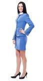 Donna di affari bella in vestito elegante Fotografia Stock Libera da Diritti