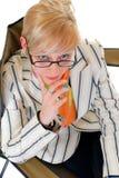 Donna di affari bionda Immagini Stock Libere da Diritti