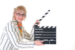 Donna di affari bionda Fotografia Stock Libera da Diritti