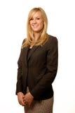 Donna di affari bionda amichevole Fotografie Stock