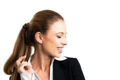 Donna di affari bionda attraente Fotografie Stock Libere da Diritti