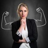 Donna di affari bionda attraente immagine stock