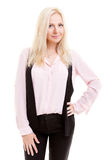 Donna di affari bionda Portrait Fotografie Stock