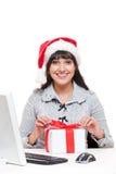 Donna di affari in cappello della Santa Fotografia Stock