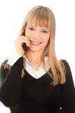 Donna di affari che chiama dal telefono Fotografie Stock