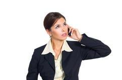 Donna di affari che comunica sul telefono Immagine Stock Libera da Diritti